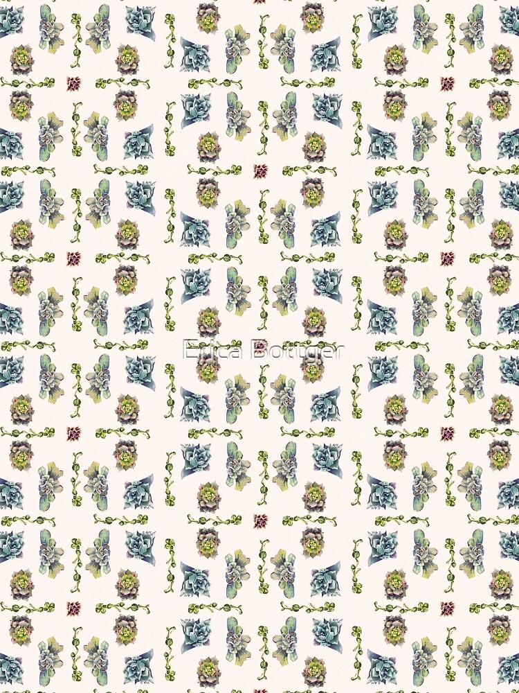Summer Succulents, Spring Day - Pattern by EricaBottger