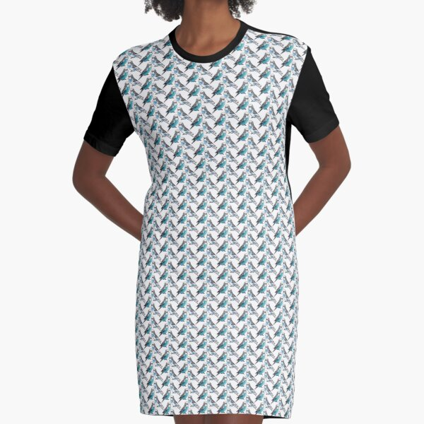 Two Budgies Graphic T-Shirt Dress