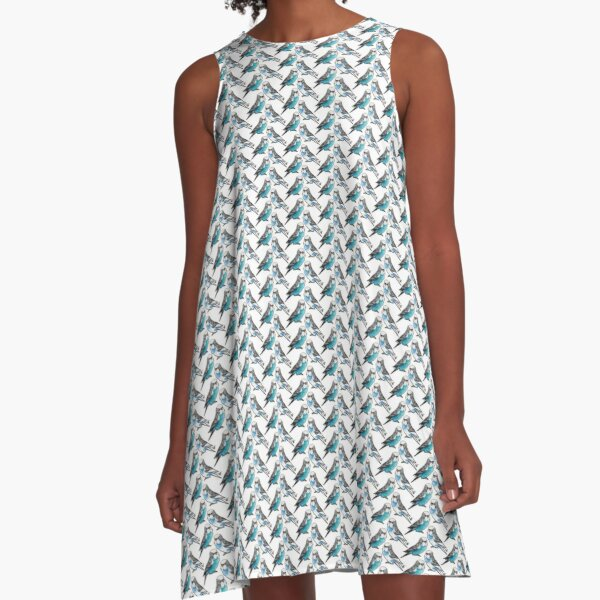Two Budgies A-Line Dress