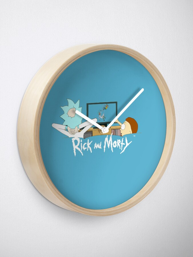 Alternate view of Rick and Morty - Watching TV Clock