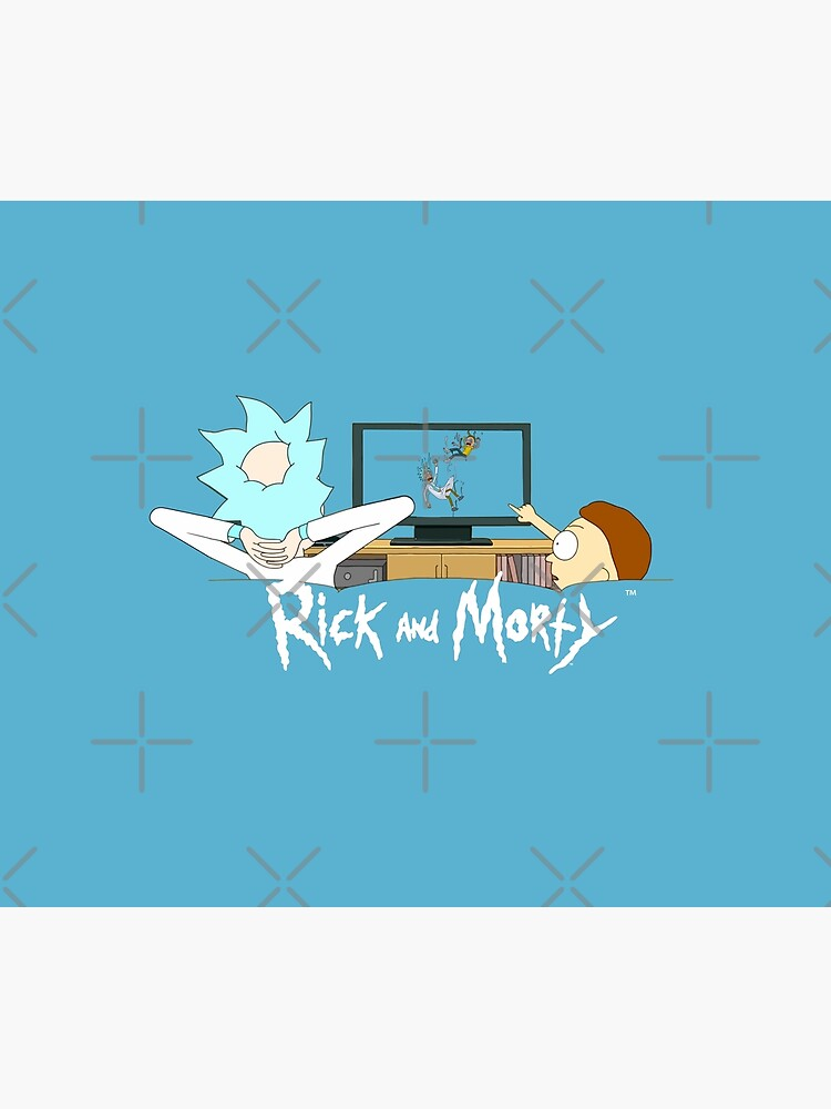 Rick and Morty - Watching TV by WaltTheAdobeGuy