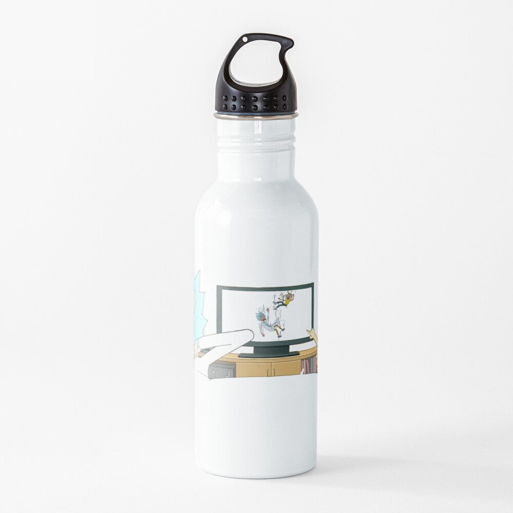 Rick and Morty - Watching TV Water Bottle
