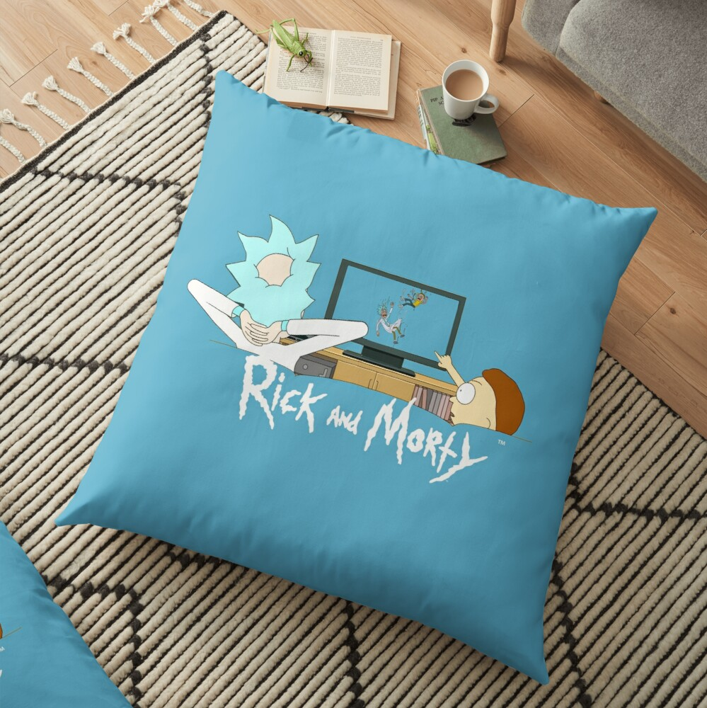 Rick and Morty - Watching TV Floor Pillow