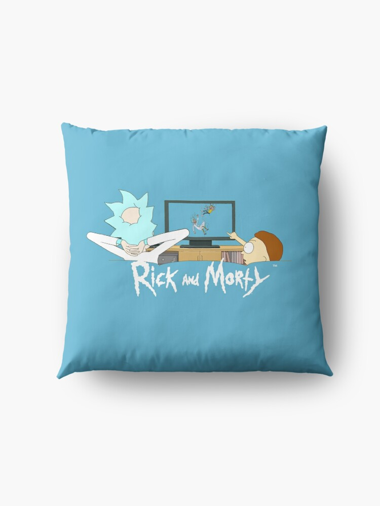 Alternate view of Rick and Morty - Watching TV Floor Pillow
