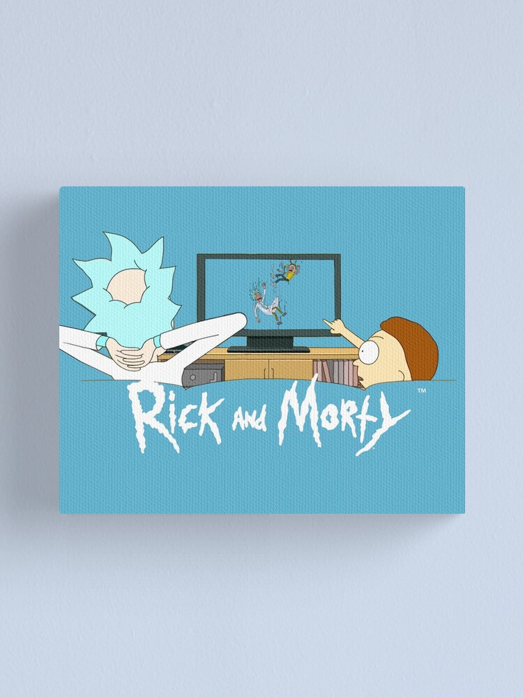 Alternate view of Rick and Morty - Watching TV Canvas Print
