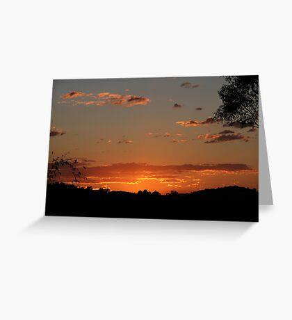 Sunset Over Elanora Greeting Card