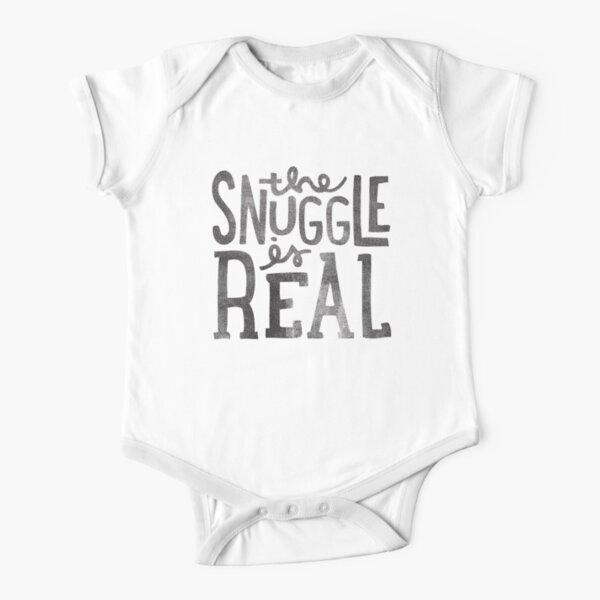 the SNUGGLE is REAL Short Sleeve Baby One-Piece