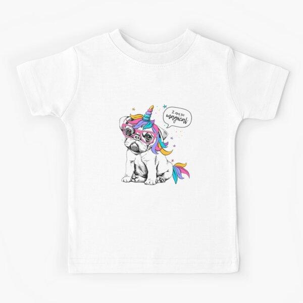 1Tee Kids Girls Meditating Unicorn T-Shirt