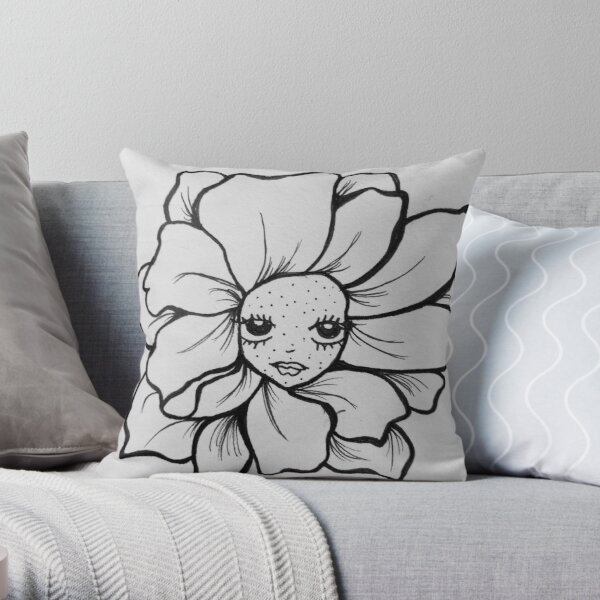 Flower baaaby Throw Pillow