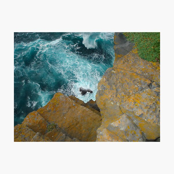 Over the Cliffs of Inis Mor Photographic Print