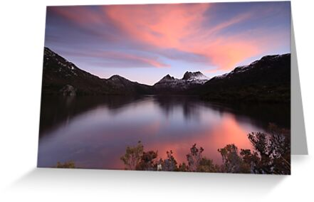 Spring Sunset at Cradle Mountain by tinnieopener