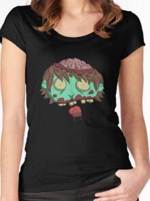 braaiiinssss... Women's Fitted Scoop T-Shirt