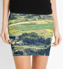 Rural Japan Rice Fields Forest Countryside Village Mini Skirt