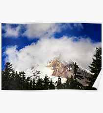 Mt. Hood among Clouds (July) Poster