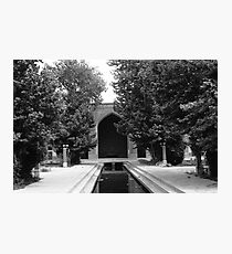 BW Iran Isfahan mosque 1970s Photographic Print