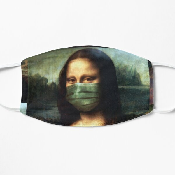 Socially Responsible Mona - Face Mask, Pin (Button), and more! Mask