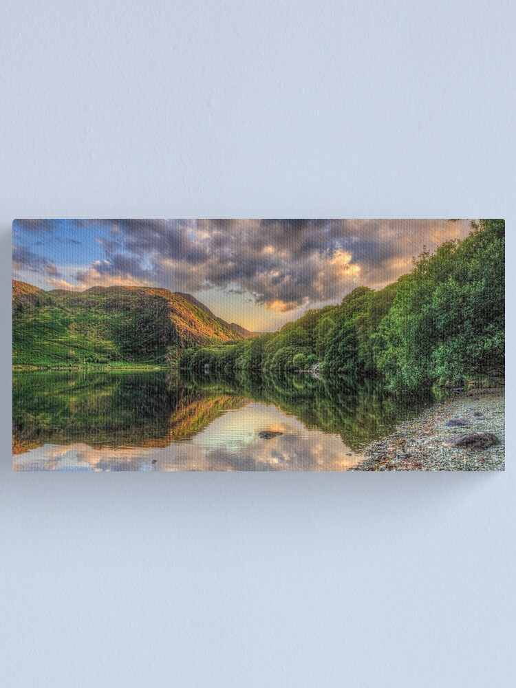 Alternate view of Llyn Dinas Sunset Canvas Print