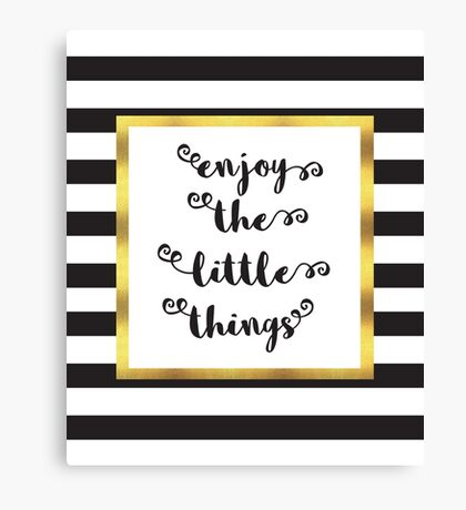 The Little Things Quote Canvas Print