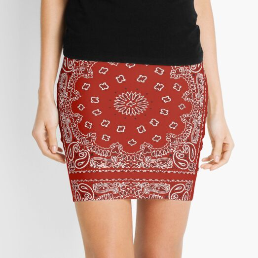 Red Bandana Mini Skirt