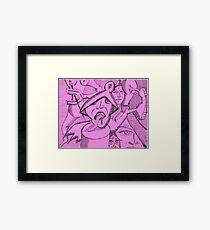tounge Framed Print