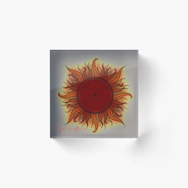 Traditional Sun Acrylic Block