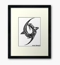 Drop Symmetry Framed Print