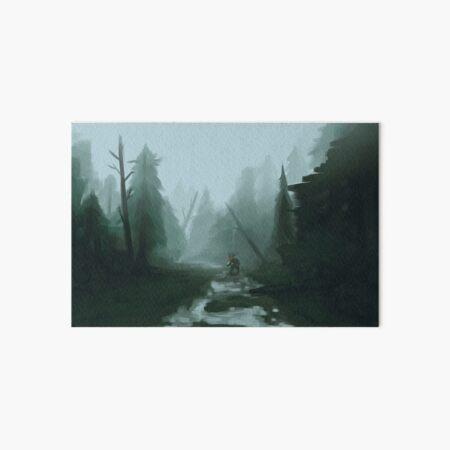 Last walk in the forest Art Board Print