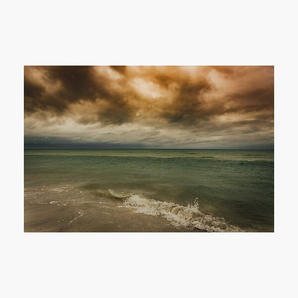 Cloudy Ocean Sunrise Photographic Print