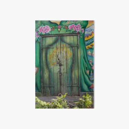 Green door, Copenhagen, Christiania Art Board Print