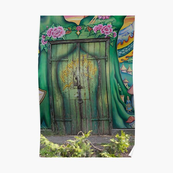 Green door, Copenhagen, Christiania Poster