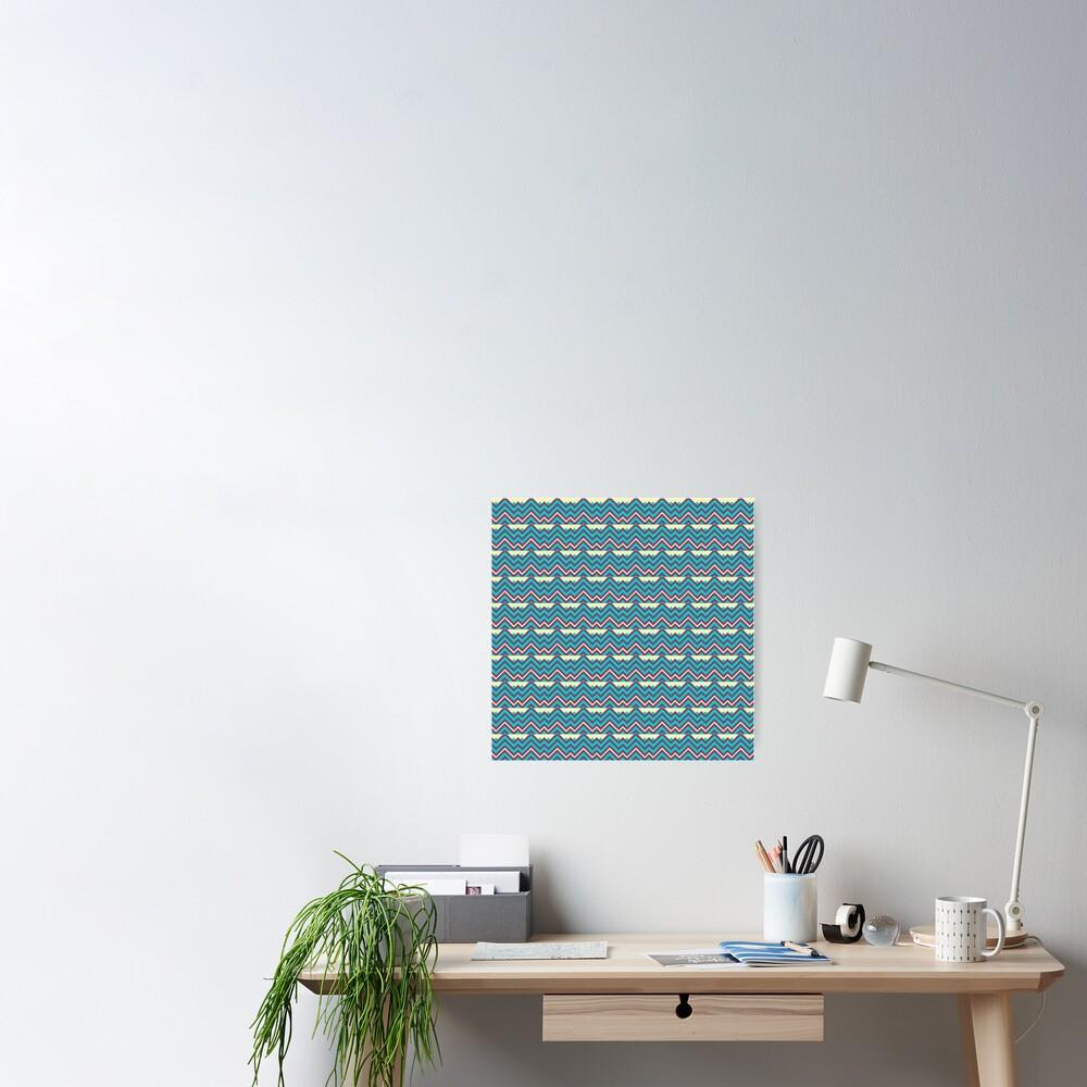 Chevron Stripes Geometric Pattern Poster