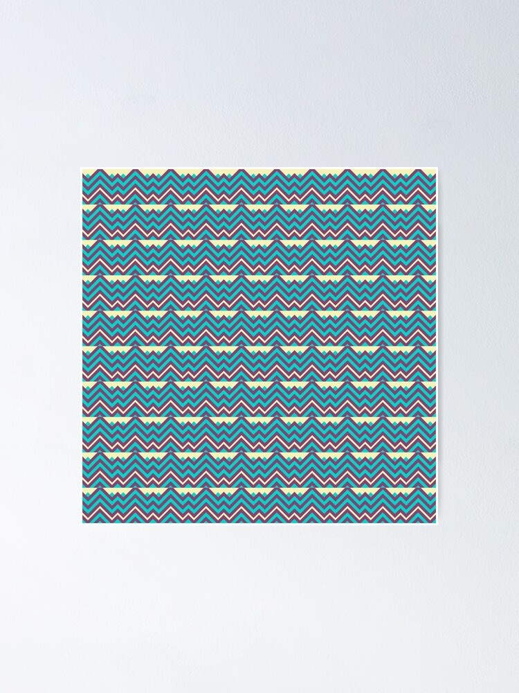 Alternate view of Chevron Stripes Geometric Pattern Poster