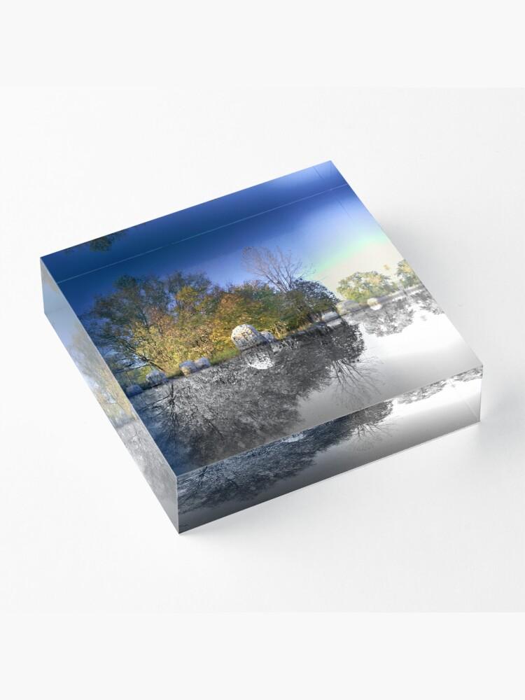 Alternate view of Rocks Reflecting Acrylic Block