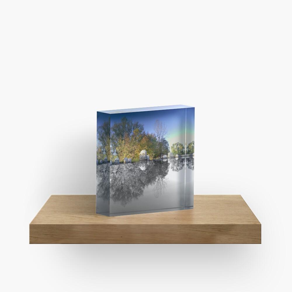 Rocks Reflecting Acrylic Block
