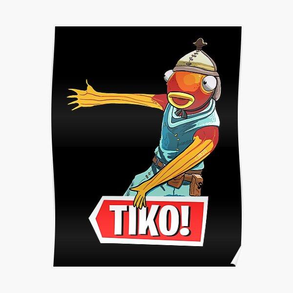 Tiko Fish Man Poster By Tubers Redbubble