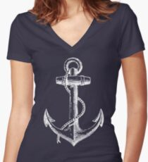 Anchor - W Women's Fitted V-Neck T-Shirt