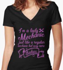 Mechanic Women's Fitted V-Neck T-Shirt