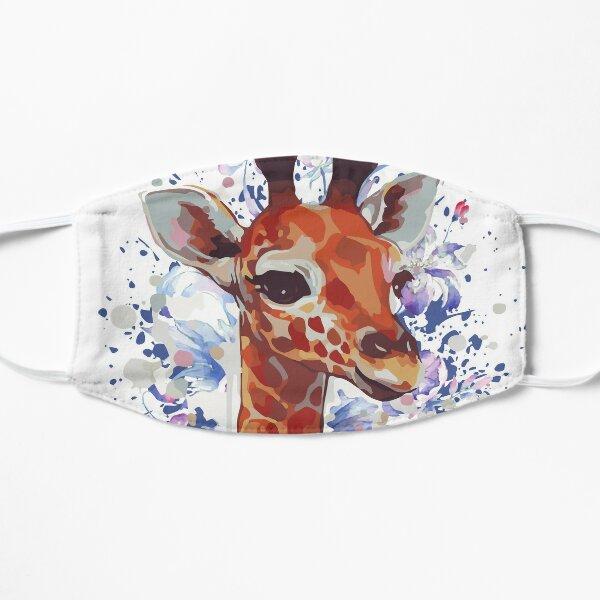 Giraffe - Cute Giraffe - Giraffe Drawing Flat Mask
