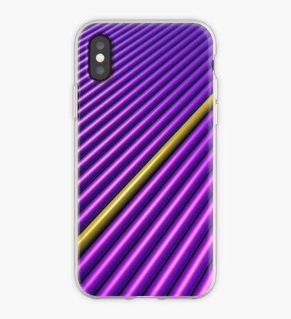 Purple/Yellow Stripe for iPhone iPhone Case