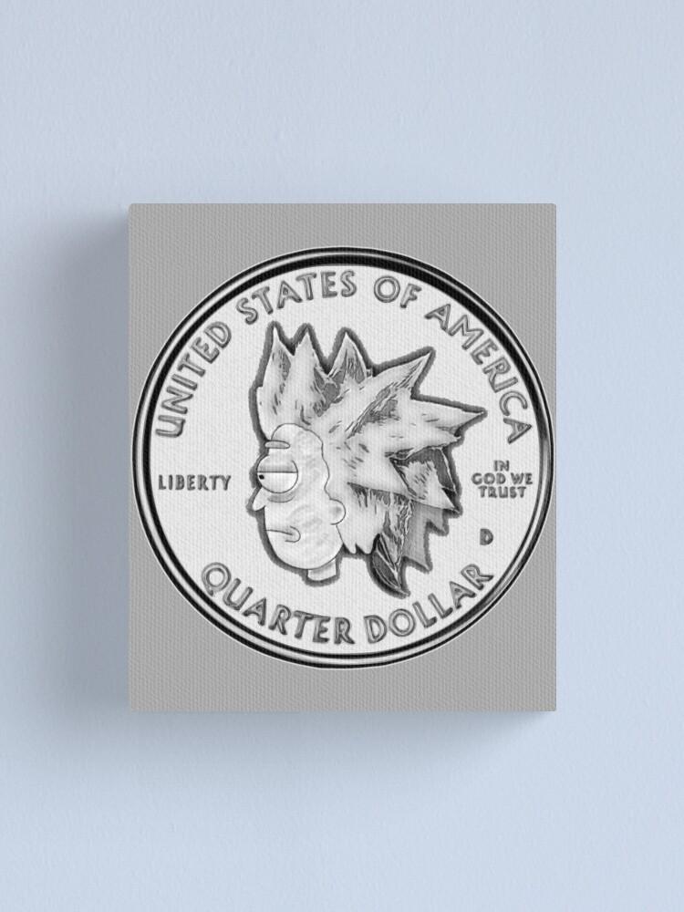 Alternate view of Rick Sanchez Wig Quarter Coin Canvas Print