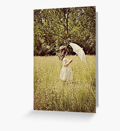 the white umbrella Greeting Card
