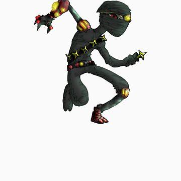 steampunk ninja by kangarookid