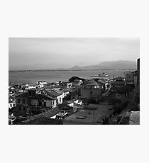 BW Greece Nafplion beach 1970s Photographic Print