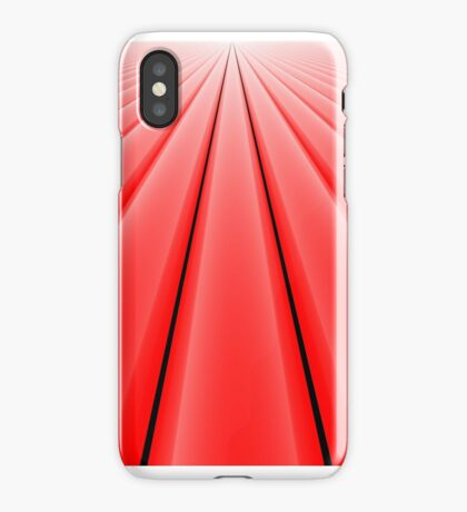 Vanishing Point, Red for iPhone iPhone Case
