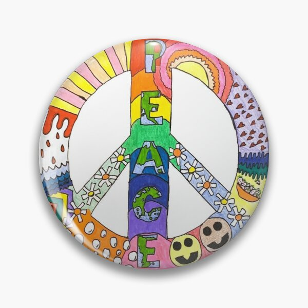 retro peace sign Pin