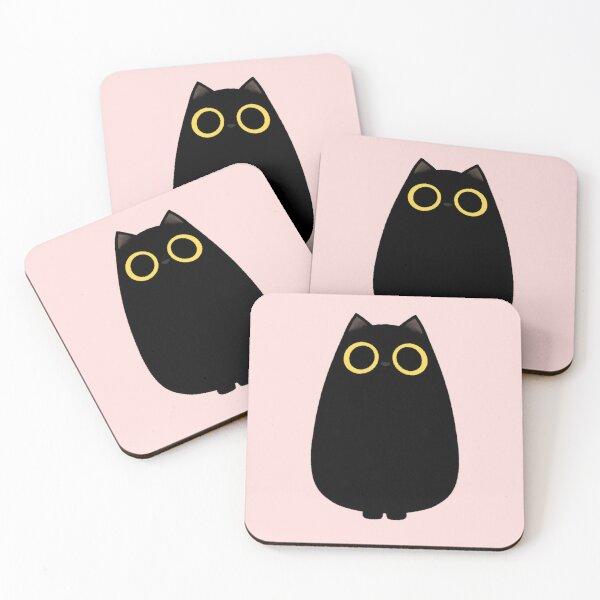 Black Cat Coasters (Set of 4)