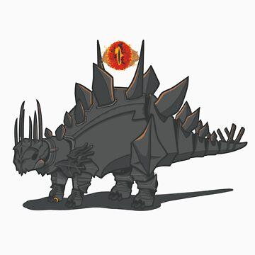 Stegosauron by knightsofloam