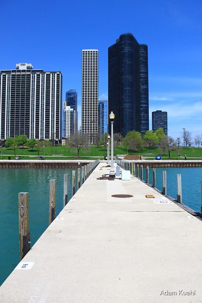 Chicago Boat Marina near Navy Pier  by Adam Kuehl