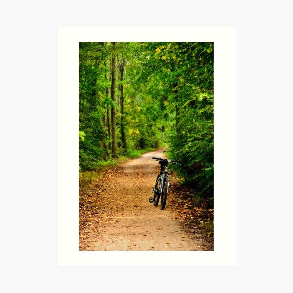 The Bike on the Towpath Art Print