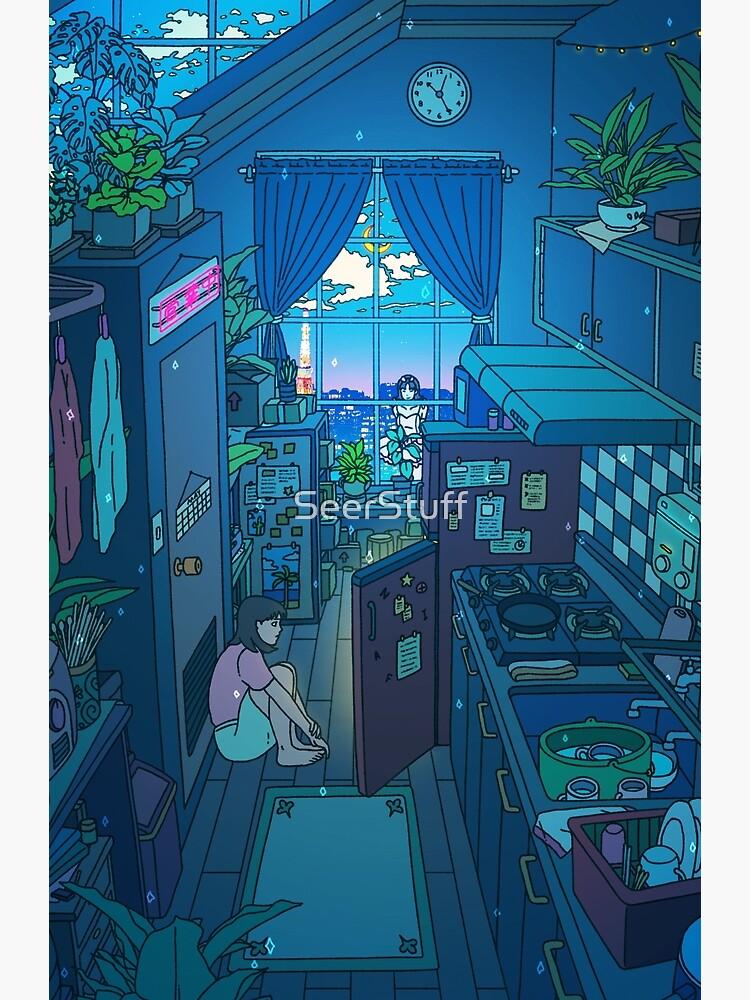 Blue Kitchen by SeerStuff